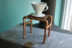 Single Coffee Pour Over Drip Station by WVMountainArtisan on Etsy $55