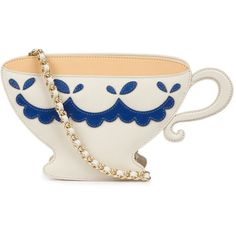 Moschino Cheap and Chic Tea Cup Saffiano Leather Bag ($565) ❤ liked on Polyvore