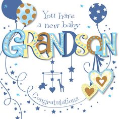 Congratulations Baby Boy Images Elegant New Baby Grandson Congratulations Greeting Card Cards New Baby Card Message, Baby Card Messages, Baby Shower Card Sayings, Baby Shower Greetings, Baby Shower Greeting Cards, New Baby Greetings, Wishes For Baby Boy, Wishes For Baby Cards, New Baby Cards