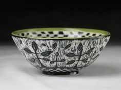 Stipule bowl; Cerise de Terre Ceramics; sgraffit Clay Ideas, Ceramics, Tableware, Earth, Ceramica, Pottery, Dinnerware, Tablewares, Ceramic Art