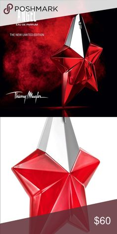 ANGEL Passion Star Eau de Parfum BOLD. DARING. FIERY. ANGEL Passion Star is the ultimate in absolute seduction... Transforming its legendary celestial blue signature star bottle into a red bottle, ANGEL Eau de Parfum is more glamorous and seductive than ever. Rediscover ANGEL with this new collector bottle and fall in love again and again with its delicious scent. So irresistible!  Fragrance notes: bergamot, tropical fruits, vanilla, caramel and patchouli. angel Accessories