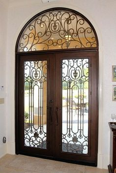 Unique Custom Iron Entry Doors
