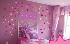 purple walls with pink wall stickers - Nevaeh Jost Nordvik Teen Bedroom, Dream Bedroom, Bedroom Ideas, Pink Bedroom Design, Bedroom Designs, Pink Wall Stickers, Pink Bedrooms, Princess Room, Purple Walls
