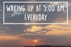 Waking Up at 5:00 AM: How to Become That Productive, Efficient Early Riser