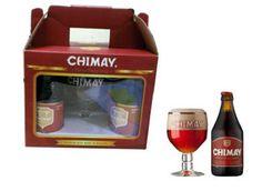 Bia Chimay Đỏ Quà Tặng 7% - Xách 4 Chai - Tặng 1 Ly - Bia Nhập Khẩu