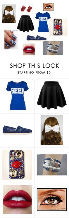 """""""Renesmee's Outfit Chapter 3"""" by lyric-denali ❤ liked on Polyvore featuring LE3NO, TOMS, women's clothing, women, female, woman, misses and juniors"""