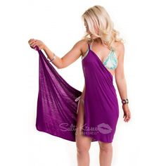 Sexy Purple Bikini Wrap Dress, available for $19 for registered customers! Swimsuits, Bikinis, Swimwear, Purple Bikini, Bikini Dress, Shades Of Purple, Favorite Color, Beachwear, Summertime