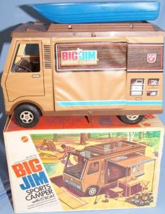 MATTEL: 1972 Big Jim Sports Camper with Boat #Vintage #Toys My brother Steven wanted one of these so bad....I still know the theme song to the commercial !