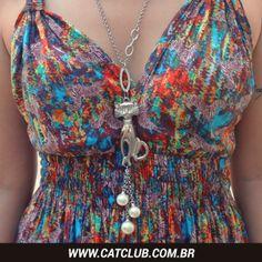 Colar de gatinho =^.^= http://loja.catclub.com.br/colares-ct-4135e