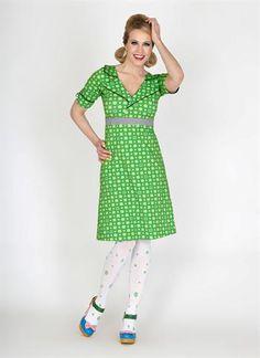 Køb Margot kjole Re Heart 00601 - i smuk grøn - Fri fragt