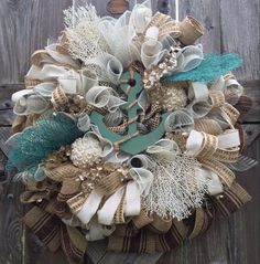 Summer Wreath Nautical Wreath Anchor Decoration by BaBamWreaths