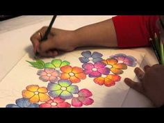 Gradient Flowers - Color Pencil Tutorial - YouTube