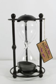 Roo Grayson Hourglass In Blackstand 60 Minute Home Decoration #UnbrandedGeneric