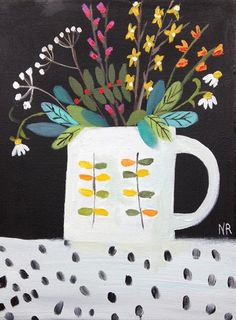Orla Mug and Dotty Tablecloth By Natalie Rymer