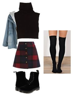 """Grunge Inspired Outfit"" by randilauderdale ❤ liked on Polyvore featuring Marc Jacobs and Dr. Martens"