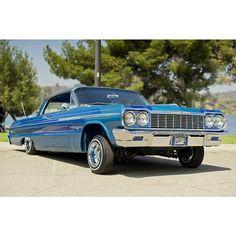 My blue heaven. #Lowrider #Impala #lowridermagazine