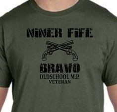 Military police 95 bravo t shirt by ImmortalProductions on Etsy