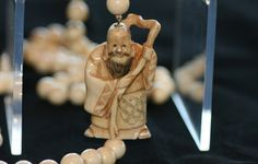 Old Man with Staff Netsuke Necklace
