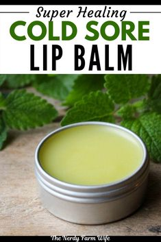 This DIY Super Healing Cold Sore Lip Balm helps fight and prevent cold sores! With Lemon Balm as a main ingredient it is powerful, but also makes a great all-purpose lip balm for everyday use! Lip Balm Recipes, Salve Recipes, Diy Lip Balm, Homemade Lip Balm, Healing Cold Sore, Natural Cold Sore Remedy, Diy Savon, Lemon Balm, Natural Lip Balm