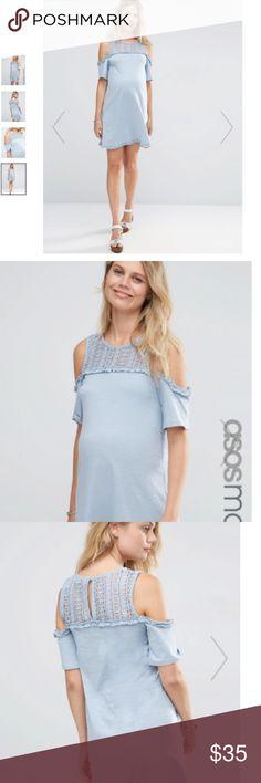 NWT ASOS light blue stylish comfy dress 6 Gorgeous dress size 6 ! Comfy light wear 100% cotton ASOS Dresses