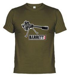 Camiseta BRIPAC. Brigada Paracaidista. Fusil Francotirador Barrett. www.paracamisetas.com