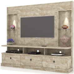 Estante Home Theater Para TV até 55 Pol. Wardrobe Design Bedroom, Bedroom Bed Design, Bedroom Decor, Tv Unit Decor, Tv Wall Decor, Tv Cabinet Design, Tv Wall Design, Tv Wanddekor, Tv Unit Furniture Design