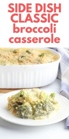 The holidays are around the corner and Broccoli Casserole with Ritz Crackers is a perfect side dish for any special meal. It's so easy to make that it's a great side dish to make with any meal, whether you're celebrating the holidays or not! Side Dish Recipes, Easy Dinner Recipes, Easy Recipes, Breakfast Recipes, Easy Meals, Ritz Cracker Recipes, Easy Vegetable Side Dishes, Broccoli Cheese Casserole, Ritz Crackers