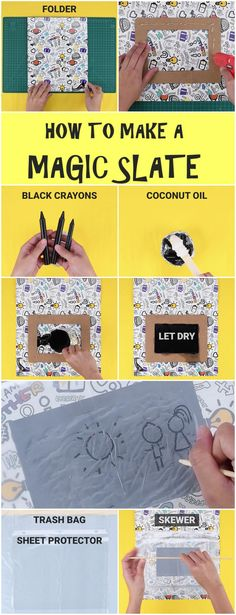 How to make a magic slate!  #babyfirst #diy #activity #game #kids #parents #hack #crafts #crafty