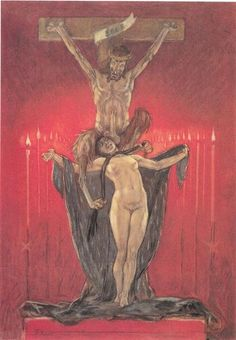 The Satanic. Calvary - Felicien Rops - WikiArt.org