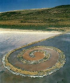 Robert Smithson, Spiral Jetty, 1970, Great Salt Lake, Utah  Love Landart!