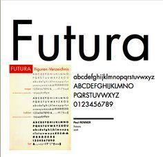 Paul Renner - Futura - 1926 via Xavier Senente