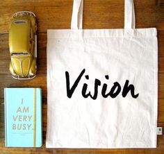 Vision Cotton Tote Bag by HappySweaters on Etsy