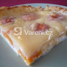 Fotografie receptu: Meruňkový koláč s pudinkem Dairy, Pie, Pudding, Cheese, Recipes, Food, Treats, Sweet, Torte