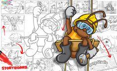 O trabalho de criação é muito gratificante. Criar com máquinas nunca oferece emoção, harmonia de conteúdo e vivência do que se cria. É como se nosso cérebro se tornasse um robô, automatizando cada ação. As grandes indústrias de animação, como Walt Disney Studios e Pixar, também fogem dessa mecanização utilizando o storyboard.