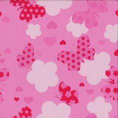 Butterfly Love - Pink - Stenzo Poplin