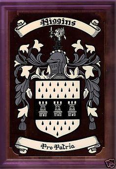Higgins Irish coat of arms plaque