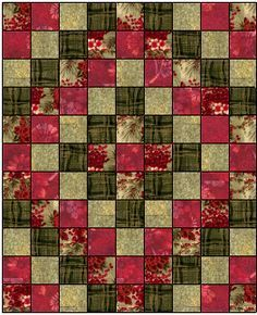 """Around the World"" traditional quilt block. http://www.quilterscache.com/T/TripAroundTheWorldBlock_Page2.html"