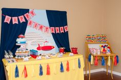 Awesome dessert table at a Little Einsteins Party.  See more party ideas at CatchMyParty.com.  #littleeinsteins #partyideas