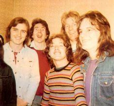 Phil, Bon, Angus, Mark - AC/DC ~1976
