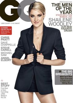 Shailene Woodley & Ansel Elgort Look So Good for GQ's Men of the Year Covers!: Photo Shailene Woodley and Ansel Elgort get their own individual covers for GQ's Men of the Year issue - and The Fault in Our Stars actors look amazing! Shailene Woodley, Steve Carell, Chris Pratt, Gq Magazine Covers, Michael Sam, Robert Palmer, Addicted To Love, Ansel Elgort, Lean Legs
