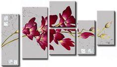Cuadros tripticos etc on pinterest 3 piece wall art - Cuadros florales modernos ...