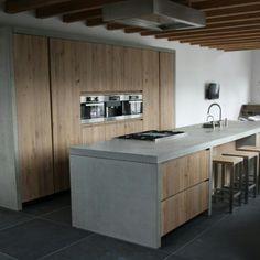 Prachtige combi hout en beton