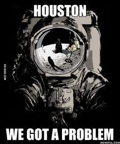 """Houston, we have a Problem"", Darth Vader on the Moon, Star Wars Humor. Anakin Vader, Darth Vader, Houston, Star Wars Jokes, Love Stars, Star Wars Art, Clone Wars, Nerdy, Geek Stuff"