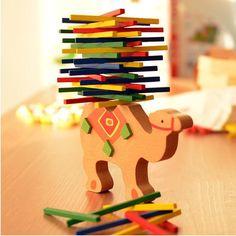 Новый шаблон Бесплатная доставка цвет бар бревно детские деревянные игрушки Интерактивная игра подарок Укладки Кольцо купить на AliExpress