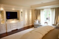 built in wall units for bedrooms | Built-in wall unit traditional bedroom