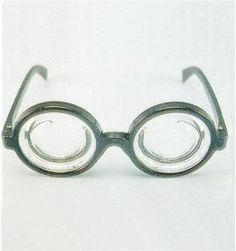 Bottle Lens Nerd Glasses - Bring out your inner nerd this Halloween and make some lame jokes with these bottle lens glasses. They have a black frame and perfectly circle clear bottle lenses. Pair them with your Bubbles from Trailer Park Boys or a 50s nerd costume. Great for Halloween and all year long.