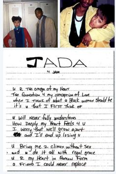 Jada + 2pac All men need to take notes