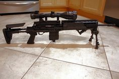 Ruger 10/22 .22LR modded inside an softair M14 EBR chassis