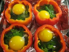Eggs and capsicums