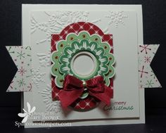 "CT1112 ""Hanging"" Wreath by stampercamper - Cards and Paper Crafts at Splitcoaststampers"